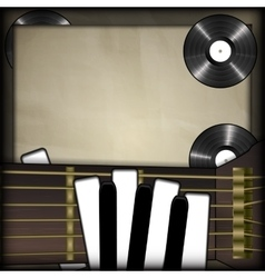 guitar and piano keys in the form of fingers vinil vector image