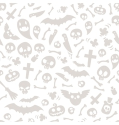 Halloween Symbols Seamless Pattern Light vector image