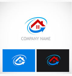 Home roof arrow realty business logo vector
