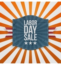 Labor day sale greeting paper badge vector