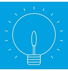 Lightbulb thin line icon vector