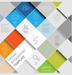 Mosaic infographic template vector