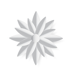 paper cut stlye grey lotus vector image