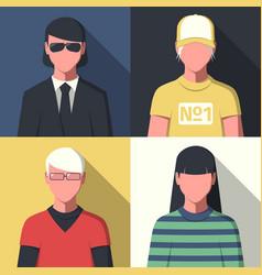 profile avatar portraits vector image vector image