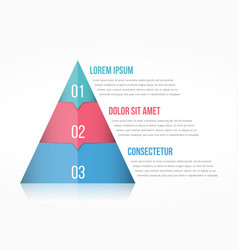 Pyramid chart vector