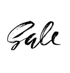 Sale handwritten lettering grunge dry brush vector