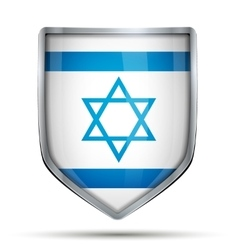 Shield with flag Israel vector image vector image