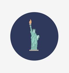 statue of liberty new york landmark vector image vector image