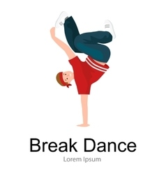 Teenager boy dancing hip hop style isolated vector