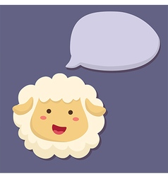 Sheep talking speech bubble vector