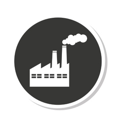 Build plant factory pollution icon vector