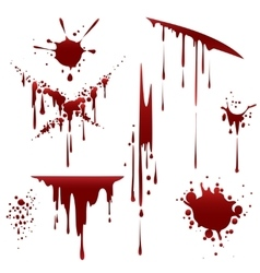 Bloody horror scruffy splatter vector