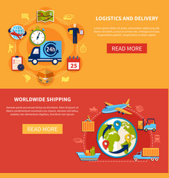 Logistic banner composition vector