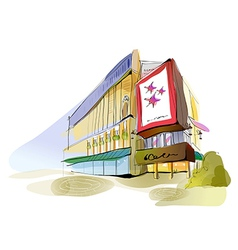 Shopping mall sketch vector