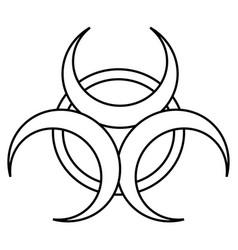 Radioactive sign icon vector