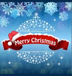 Merry christmas celebration background vector