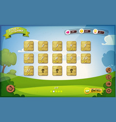 Game user interface design for tablet vector