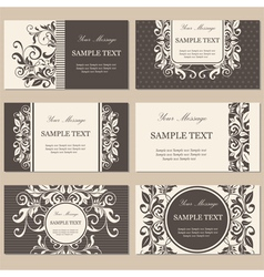 Cards set brown vector