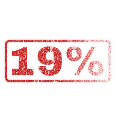 19 percent rubber stamp vector