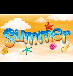 Summer artwork vector
