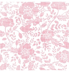 Pink textile birds and flowers seamless pattern vector