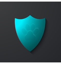 Modern shield icon on gray vector