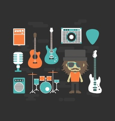 427rock musician and gadgetVS vector image