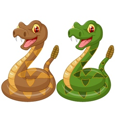 Cartoon rattlesnake vector
