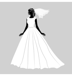 The bride in a wedding dress vector