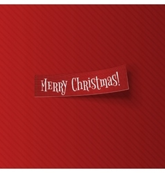 Merry christmas sticky banner with shadow vector