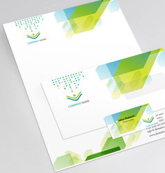 Elegant corporate identity vector