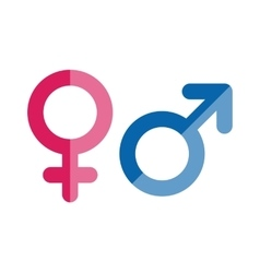 Gender icons set vector image