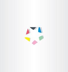 Abstract pentagon logo icon element vector