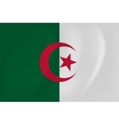 Algeria waving flag vector