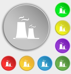 Atomic power station icon sign symbol on eight vector