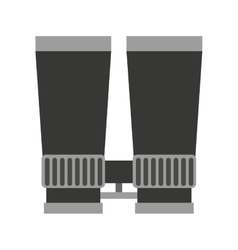 Binoculars view silhouette icon vector