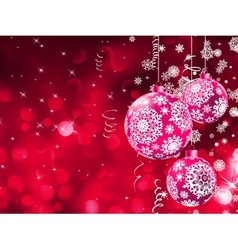 Bokeh lights and Christmas balls EPS 10 vector image vector image