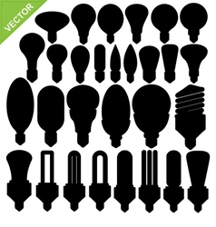 Bulb silhouettes vector image vector image