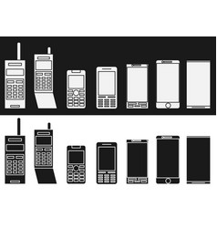 cell phone evolution flat vector image