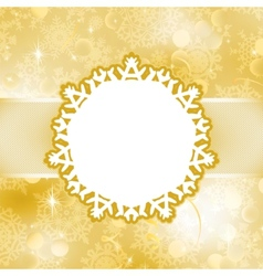 Christmas card with snowflakes EPS 8 vector image vector image