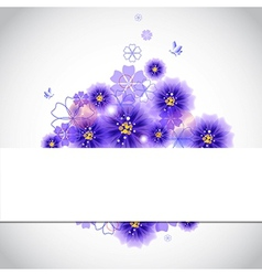 Colorful floral greeting card vector image