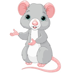 Cute cartoon rat vector