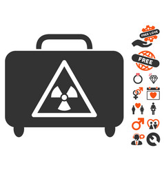 Dangerous luggage icon with lovely bonus vector