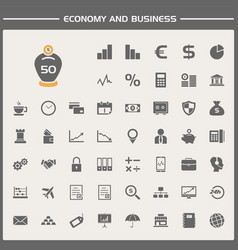 Economy and business icons set vector