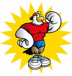 gym eagle vector image vector image