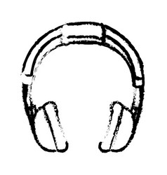 headphone music device icon vector image