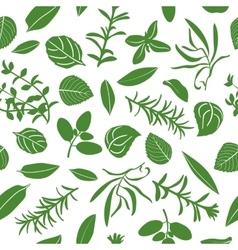 Herbes de provence seamless pattern set vector