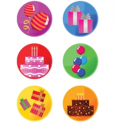 icons party vector image