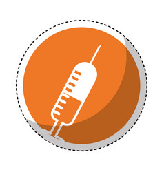 injection medical isolated icon vector image vector image