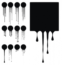 Ink drips vector